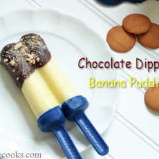 Chocolate Dipped Banana Pudding Pops