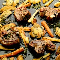 Lamb Chops with Roasted Vegetables