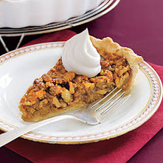 Walnut Pie with Honey Whipped Cream