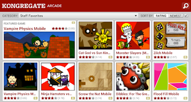 Screenshot of Kongregate Arcade