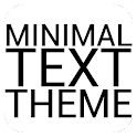 Minimal Black Text THEME PAID icon