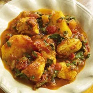 Chicken Potatoes Spinach Curry Recipes