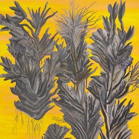 Obraz: Przestrzeń abstrakcyjna z użyciem kwiatów - Małgorzata Wielek-Mandrela