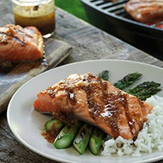 Grilled Salmon With Teriyaki Shallot Butter