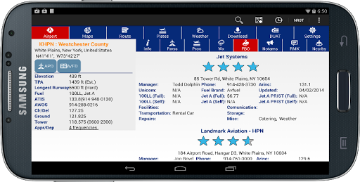 AvNav EFB - screenshot