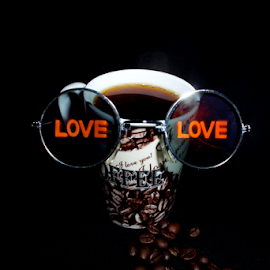 Love coffee by Martin Smith - Food & Drink Alcohol & Drinks ( love, glasses, coffee, drink, fine art )