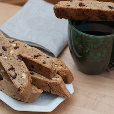 Gluten Free White Chocolate and Cranberry Walnut Biscotti