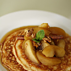 Ricotta Pancakes with Apple-Calvados Syrup