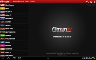 Screenshot of FilmOn Free TV Chromecast DLNA