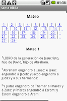 Screenshot of Santa Biblia
