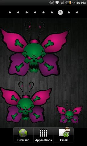 Butterfly Skull doo-dad