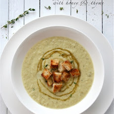 Cream of Fennel Soup with Honey and Thyme
