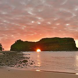Sun Caught by Efraim van der Walt - Landscapes Caves & Formations ( rock formations, south africa, sunrise )