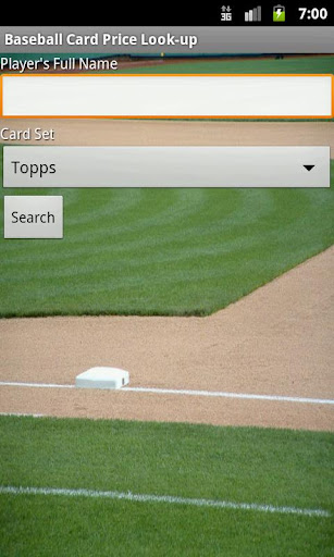 Baseball Card $ Lookup demo