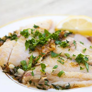 Sautéed Petrale Sole in Herb Butter Sauce