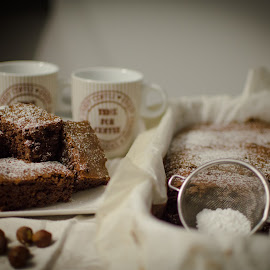 Chocolate brownies by Andreia Fernandes - Food & Drink Cooking & Baking ( #chocolate#brownies#sweet#sugar#baked )