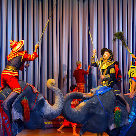 Traditional Elephant Battle Scene by Alan Chew - News & Events Entertainment (  )