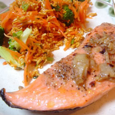 Chinese Steamed Salmon