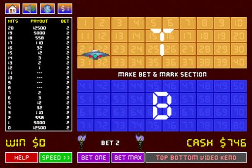 Top Bottom Keno - screenshot