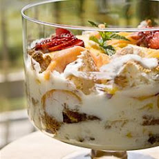 Fresh Peach Trifle