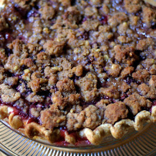Spiced Plum Crumble Pie