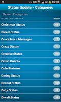 Screenshot of Status Quotes For FB, Whatsapp