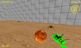 Screenshot of 3D Zombie Ant Smash Ball