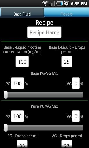 Advanced E-Liquid Calculator L