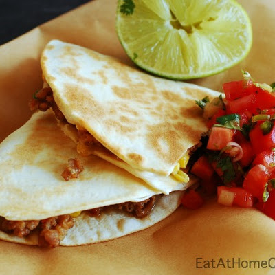 Sausage and Corn Quesadillas – a 15 Minute Meal