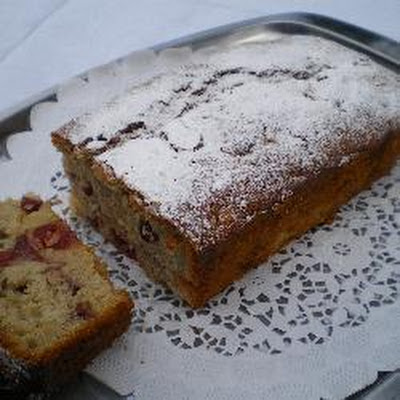 Cherry Berry Christmas Cake