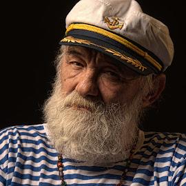 Mr. Capitan by Ines Raycheva - People Portraits of Men ( nacho kamenov, capitain, sea, male portrait, ines raycheva, seaman, portrait of man, sofia, portrait, bulgaria,  )