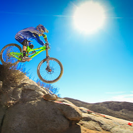 Downhill Racer by Jay Woolwine - Sports & Fitness Cycling ( downhill bike, bike, cycling, super d, bike race )