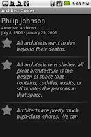 Screenshot of Architect Quotes