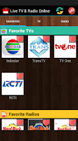 Screenshot of TV Indonesia Live