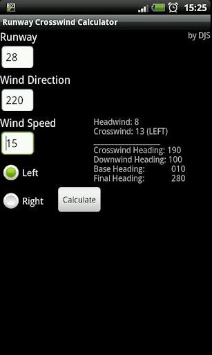 Runway Crosswind Calculator