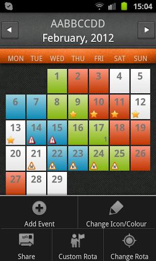 Shift Rota Calendar