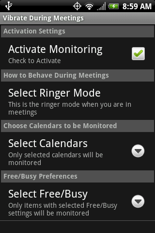 Vibrate During Meetings
