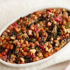 Baked Beans With Swiss Chard