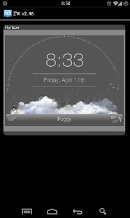 Horizon - Zooper Widget Pro - screenshot
