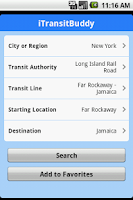 Screenshot of iTransitBuddy LIRR Lite
