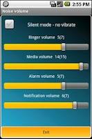 Screenshot of Noise volume