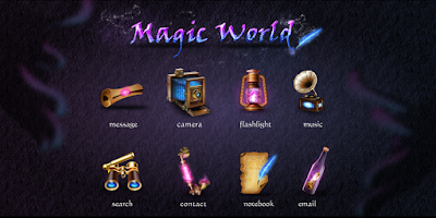 Screenshot of Magic World GO Launcher Theme