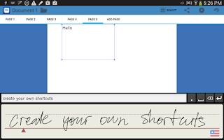 Screenshot of WritePad