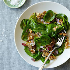 Warm Walnut Spinach Salad