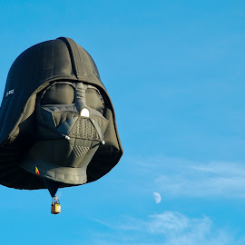Flying Vader by Clement Rivard - Transportation Other ( hot air, vader )
