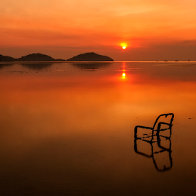 by Charliemagne Unggay - Landscapes Sunsets & Sunrises ( Hope, Chair, Chairs, Sitting )
