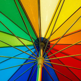 Umbrella. by Anže Sušel - Artistic Objects Clothing & Accessories ( umbrella, sunnyday, colorfull, rainbow )
