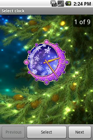 クリスマスの時計