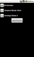 Screenshot of Runescape Calculator