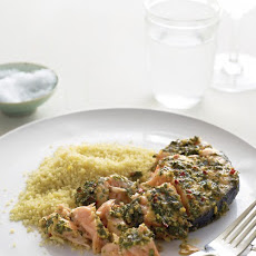 Marinated Salmon Steaks with Couscous